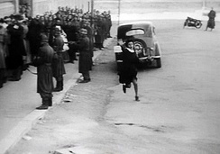 A still shot from Rome, Open City (1945), by Roberto Rossellini.