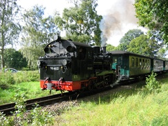 "Narrow gauge railway ""Rügensche Kleinbahn"", operating since 1895"