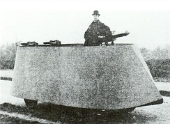 F.R. Simms' 1902 Motor War Car, the first armoured car to be built
