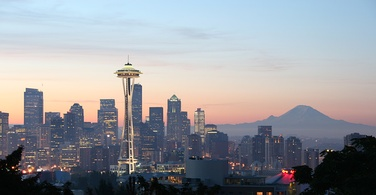 Skyline of Seattle, Washington's largest city