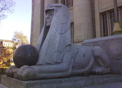 Sphinx adopted as an emblem in Masonic architecture