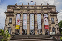 The facade of the Strasbourg Opera House