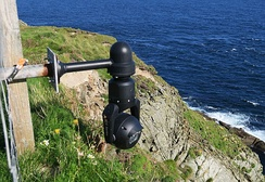 A webcam installed near Sumburgh Head lighthouse, (Shetland). The cliffs are home to large numbers of seabirds and the area is an RSPB nature reserve.