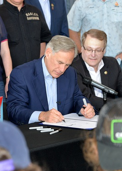 Gov. Greg Abbott signs the TABC Sunset bill into law.
