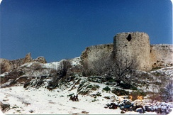 Crusader castle in the village of Toron, Lebanon