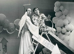 Conway as an angel with Robert Morse on That's Life, 1968