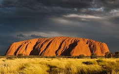 Uluru (Ayers Rock) is a large sandstone formation in Northern Territory, Australia.