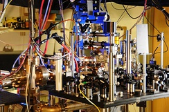 One of NIST's 2013 pair of ytterbium optical lattice atomic clocks.