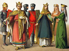 Victorian interpretation of the Normans' national dress, 1000–1100