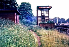 Chapel en le Frith South signal box in 1967. It was rebuilt after the 1957 accident.