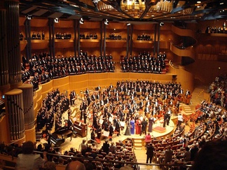A performance of Gustav Mahler's Eighth Symphony in the Kölner Philharmonie