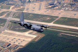 AC-130U Spooky gunship over Hurlburt Field