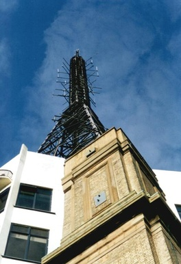 The Alexandra Palace, here: mast of the broadcasting station