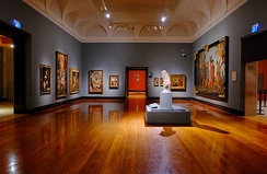 One of the rooms for the Tannenbaum Centre for European Art. The Centre has on display several pieces from the Gallery's European collection.