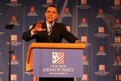 Barack Obama speaking to College Democrats of America in 2007
