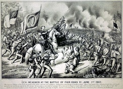 General Thomas Francis Meagher at the Battle of Fair Oaks, June 1, 1862