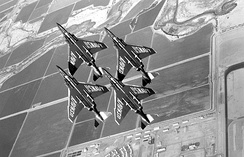 The Blue Angels flew the F-4J, 1969–74