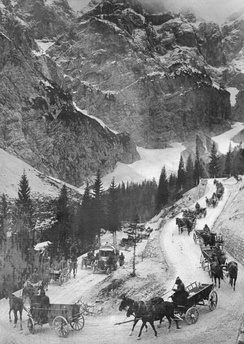 Austro-Hungarian supply line over the Vršič Pass. October 1917