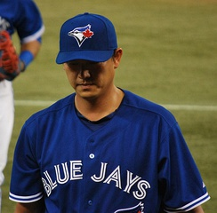 Wang with the Toronto Blue Jays in 2013