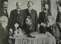 Cipriano Castro and his war cabinet in 1902
