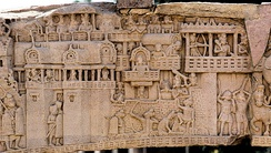 City of Kushinagar in the 5th century BCE according to a 1st-century BCE frieze in Sanchi Stupa 1 Southern Gate.