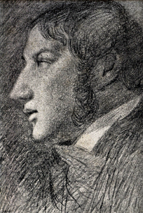 John Constable, Self-portrait 1806, pencil on paper, Tate Gallery London. His only indisputable self-portrait, drawn by an arrangement of mirrors.[5]