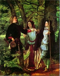 Walter Deverell, The Mock Marriage of Orlando and Rosalind, 1853