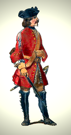 A French dragoon (c. 1700).