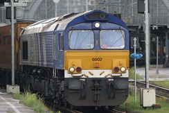 Diesel–electric locomotive built by EMD for service in the UK and continental Europe.
