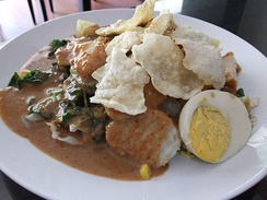Gado-gado is a popular dish in Jakarta