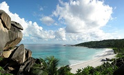 The spectacular beach of Grand Anse