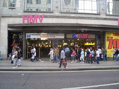 The former flagship HMV store in Oxford Street