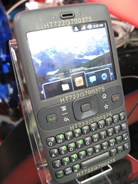 "The ""Sooner"" prototype phone,[12] running a pre-release version of Android"