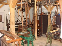 Recreation of a 19th-century firearm workshop