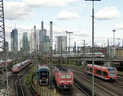 Frankfurt Central Station, operated by Deutsche Bahn