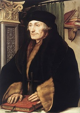 Portraint of Erasmus by Holbein, 1523