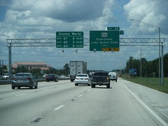 I-4 westbound approaching SR 535 in Lake Buena Vista