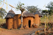 A traditional tata-somba house in Benin