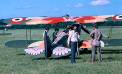 Lynn Garrison's Stampe-Vertongen SV.4 painted for a Robertson film project, Weston, Ireland, 1969
