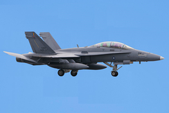 RMAF F/A-18D returning to base after a national day flypast