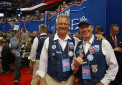 Members of the Montana delegation at the 2012 Republican National Convention