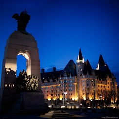 The National War Memorial and Château Laurier