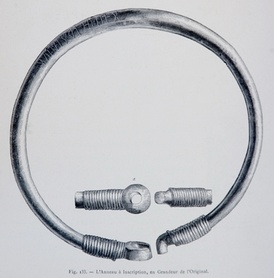 The Ring of Pietroassa (drawing by Henri Trenk, 1875).