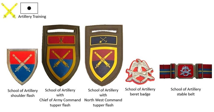 SADF era School of Artillery Insignia