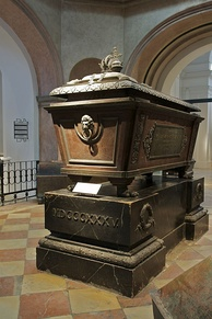 His sarcophagus in the Imperial Crypt, Vienna