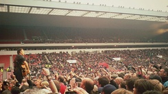Springsteen playing at the Stadium of Light, Sunderland, UK, in 2012