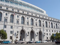 The Court's headquarters in San Francisco at the Earl Warren Building and Courthouse, which it shares with the Court of Appeal for the First District