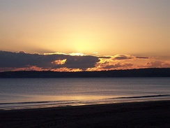 Sunset over Swansea Bay