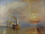 The Fighting Temeraire tugged to her last berth to be broken up, 1839, oil on canvas, National Gallery