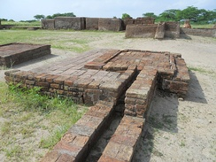 Archaeological remains of washroom drainage system at Lothal.